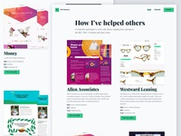 Personal website work listing page (desktop)