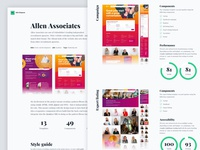 Personal website Allen Associates case study (desktop)