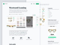 Personal website Westward Leaning case study (desktop)