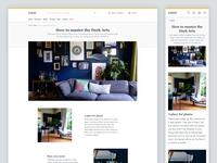 E-commerce content page