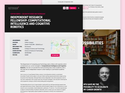 Nottingham Trent University Campaign Job Page