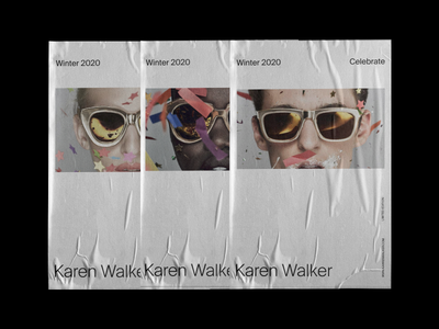 Karen Walker, Posters visual exploration grid layout layout concept poster design digital poster campaign editorial fashion advertising minimalism ecommerce