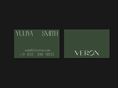Work in progress for Veron design editorial