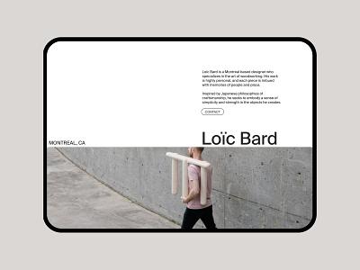Loïc Bard ui minimalism visual design canadian designer designer portfolio aboutme uidesign fashion editorial ecommerce