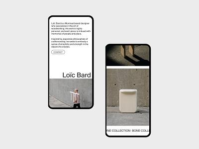 Loïc Bard furniture designer portfolio suisse design ecommerce design dailyui uidesign minimalism editorial ecommerce