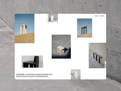 Loic Bard — 2021 visual design fashion dailyui 003 dailyui 100 ecommerce editorial minimalism uidesign dailyui ecommerce design furniture design suisse designer portfolio furniture