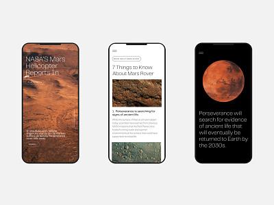 Mars Rover 2021 — digital design minimalism swiss mars ui design mars rover dailyui