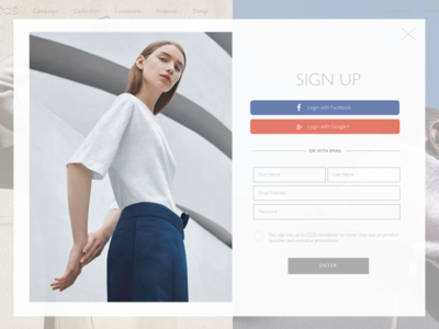 COS Sign Up - DAILYUI#001