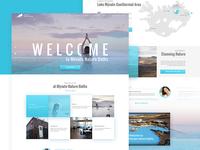 Mývatn - Web design