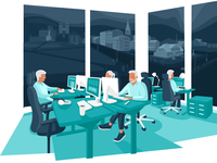 Illustration of our new office