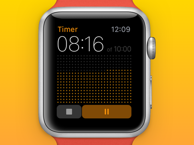 014 • Visual Countdown Timer (Apple Watch) dots countdown timer apple watch dailyui 014