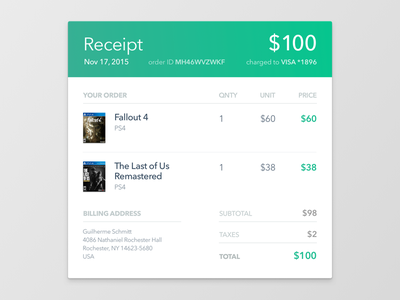 017 • Email Receipt purchase receipt email dailyui 017