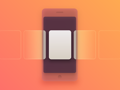 Horizontal Scrolling Pages cards illustration abstract ui