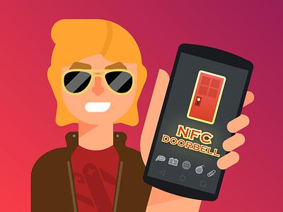 MacGyver - NFC Doorbell 1 nfc character illustration macgyver