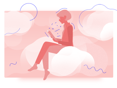 Illustration inspired by the Clouds ☁️ books clouds blog illustration illustration