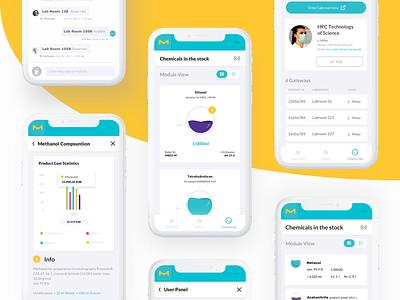 Liquid Design System- Mobile UI 📱 mobile app technology science health app health care design dashboard app ux ui