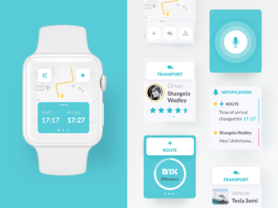 What you can do with Liquid – Vol. 4 ⌚️ tesla healthcare ui ux application app transport trucks tracking watchos apple watch watch mobile dashboard what you can do with liquid liquid design system