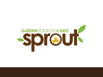 Sprouts branding icon By ce Designs garden nature kids line logo kids branding icon
