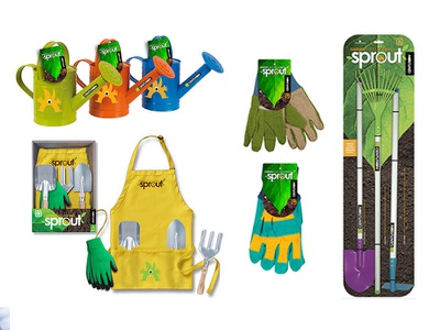Sprouts Packaging Concepts garden tools kids line package design