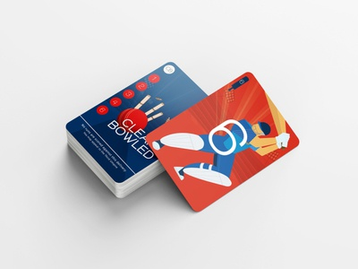 Qwicket! The card game for Cricket Lovers drawing illustrator cricketgame cricket game print cards card design cardgame illustration design graphicdesign
