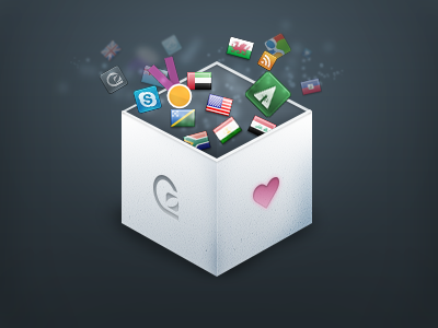 Resources from GoSquared gosquared blog 3d photoshop resources free psd icons launch icon box