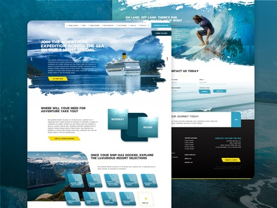 Voyage The Sea, Web Design Concept ocean responsive design material design user interface ui ux advertising travel user experience ux sitemap website