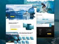 Voyage The Sea, Web Design Concept