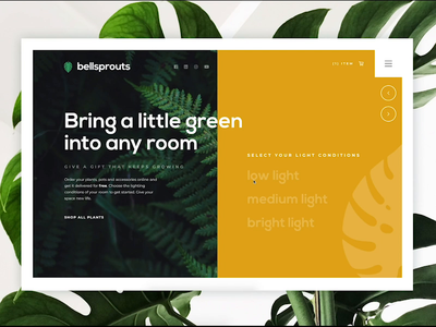 Bellsprouts Landing Page user interface sketch app invisionstudio digital design web design ux product designer user experience ux designer plant care landing page concept logo design monstera website design website ui design home page landing page ux design plants