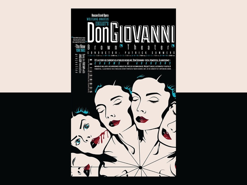 Don Giovanni Poster experimental illustration illistrator weekly warm-up horror juxtaposition typogaphy vector illustration vector art opera poster opera don giovanni poster design poster graphic  design theater theater posters mozart halloween spooky