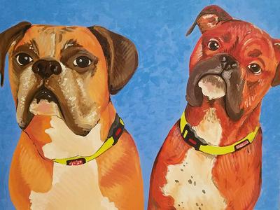 Acrylic Dog Painting