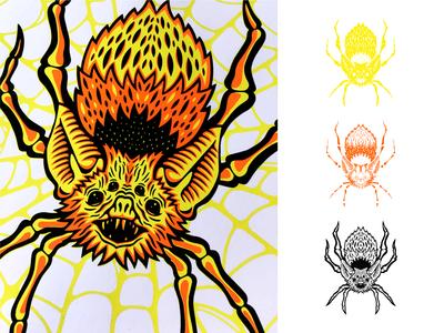 Spider-Bat Print