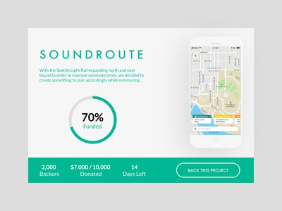 Daily UI 032: Crowdfunding Campaign