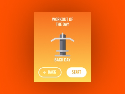 Daily UI 062: Workout of the Day