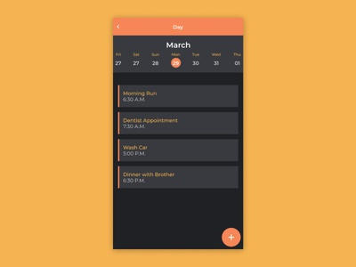 Daily UI 071: Schedule