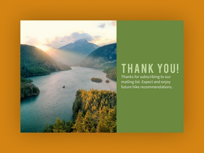 Daily UI 077: Thank You