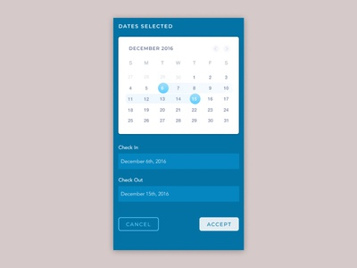 Daily UI 080: Date Picker