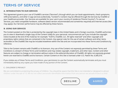 Daily UI 089: Terms of Service