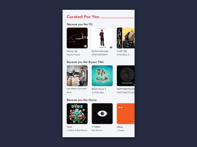 Daily UI 091: Curated for You