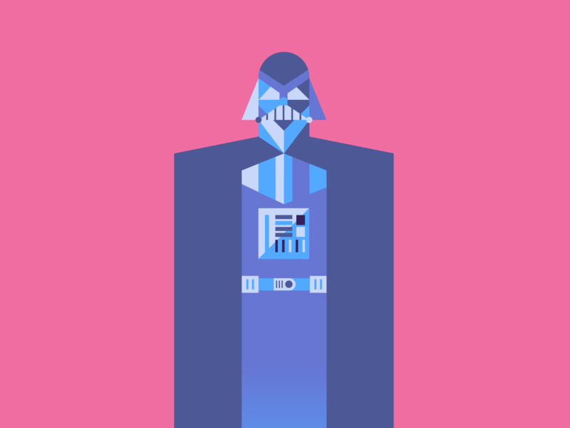 Vader illustration blue gradient skywalker movies vector jedi sith starwars vader darth