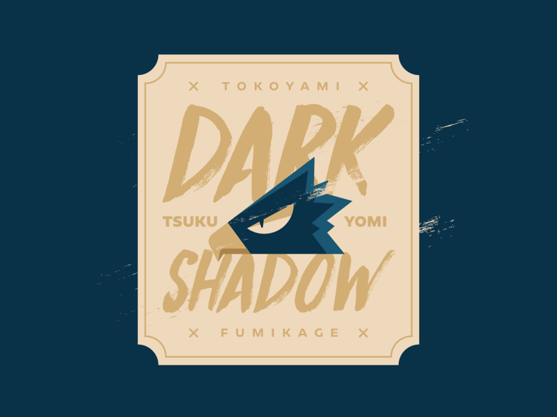 Tokoyami Fumikage vector design badge gold blue fanart hero shadow dark