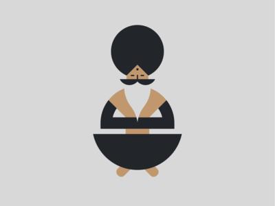 CryptoGurú badge graphic vector minimal gold guru branding logo illustration design