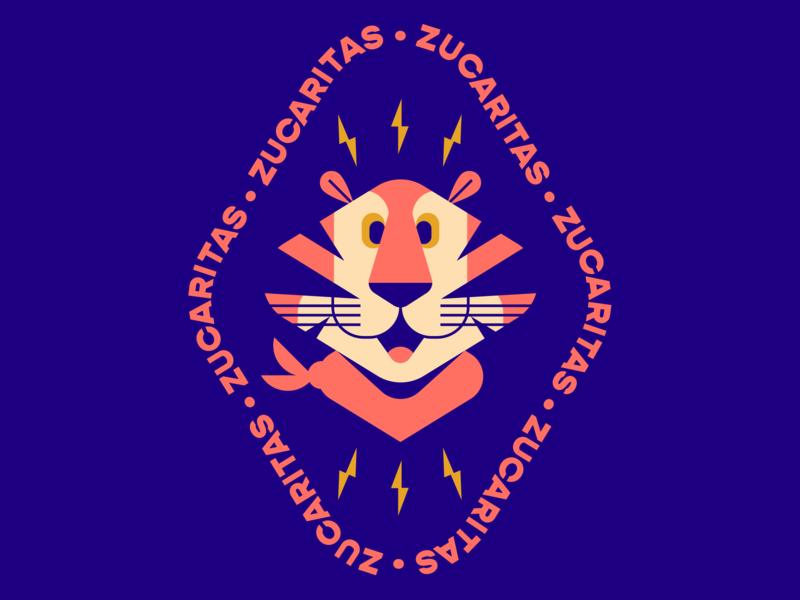 Tony cereal box lightning bolt lightning orange blue tiger cereal branding typography book graphic cartoon gradient logo color badge illustration design vector