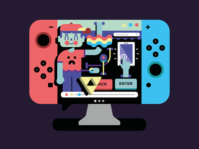 Kids, just want to have FUN!!! youtube play rainbow nintendo switch apple ipad enter ux ui videogames children illustrations design color kids