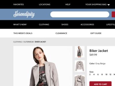 Daily UI #012: E-Commerce Shop (Single Item)