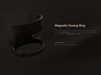 Magnetic dosing ring