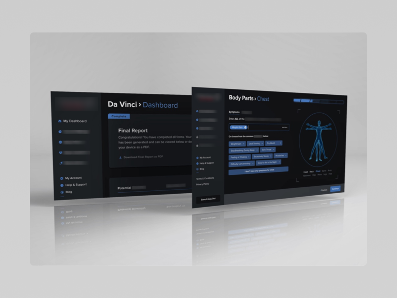 Medical Diagnostics App web app dashboard prototyping flinto abstract sketch ui