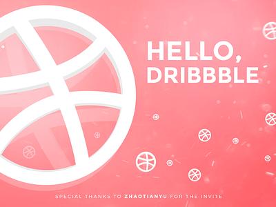Hello Dribbble zhaotianyu thanks special thanks hello dribbble invited