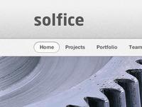 Solfice Header & Nav