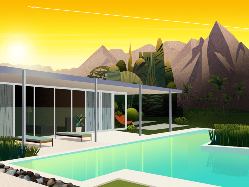 Dream house - 12/16/2018 swimmingpool house home illustration clean design