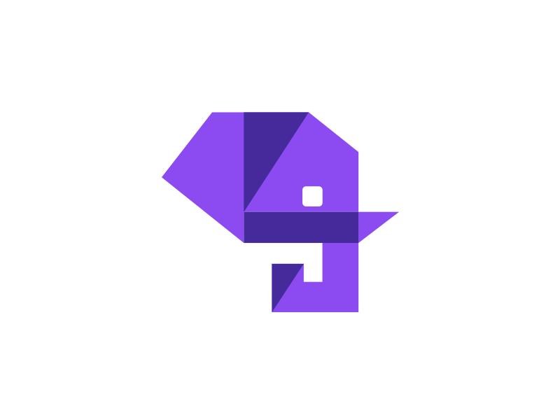Academy elephant logo identity brand